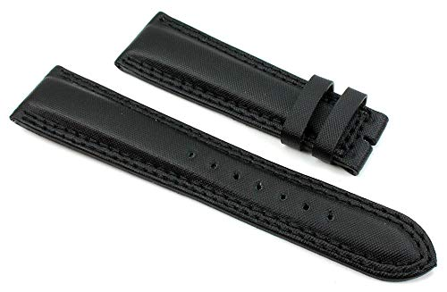 Chronoswiss - Cinturino per orologio in vera pelle, 22 mm, colore: Nero