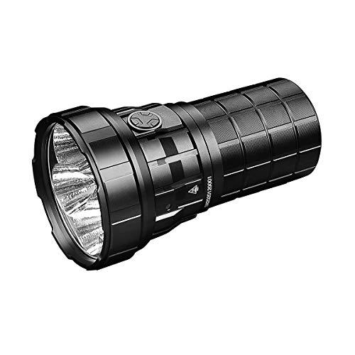 IMALENT R60C - Linterna táctica de 18 000 lúmenes, haz de 1038 metros con 6 ledes, linterna de bolsillo recargable, linterna superbrillante, alimentada por 21700 baterías Li-ion 4000 mAh