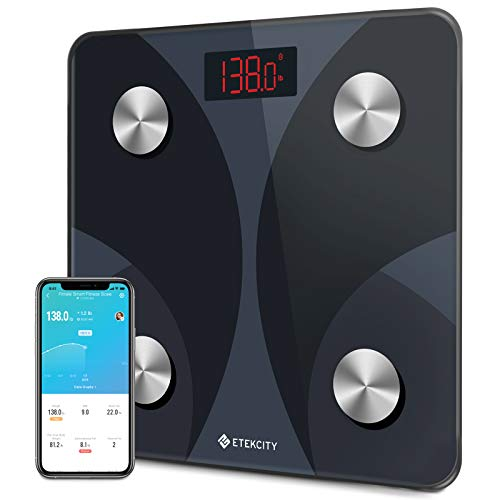 Etekcity Smart Digital Bathroom Scale, Scales for Body Weight and Fat,...
