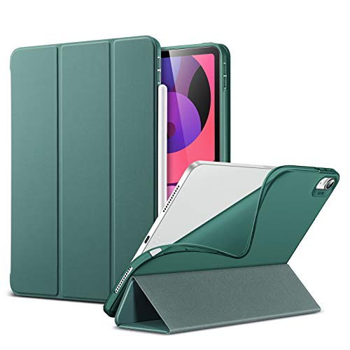 ESR Slim Smart Case for iPad Air 4 2020 10.9 inch [Viewing/Typing Stand Modes] [Flexible TPU Back] Rebound Series, Green