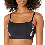 DKNY Bralette sin alambre con logotipo para mujer - - Large