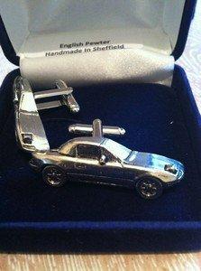 Zinn-Manschettenknopf-Set Mazda, 3D, Zinn, Auto, schwer, umwerfendes Design