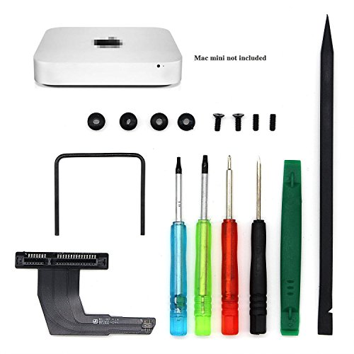 Mac Mini Serverディスクマウント上段ベイ用 SSD HDD 増設ケーブル補助キット Mac mini A1347 mac SSD増設用 ドライバー トルクス 六角レンチ ヘラ 工具付