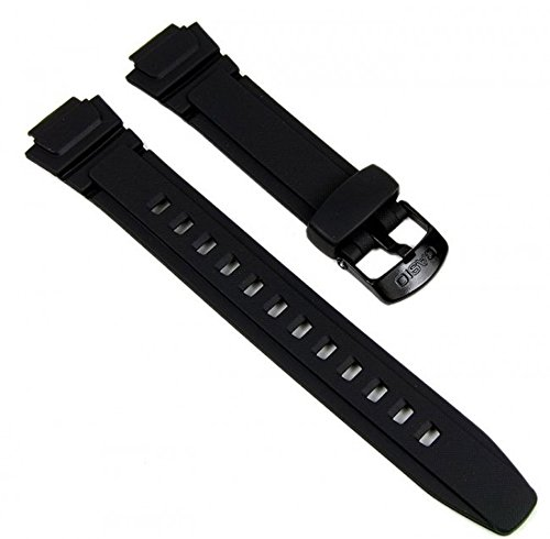 Genuine Casio Replacement Watch Strap 10212268 for Casio Watch W-213-1AVSW, AQ-180W-7BW + Other Models