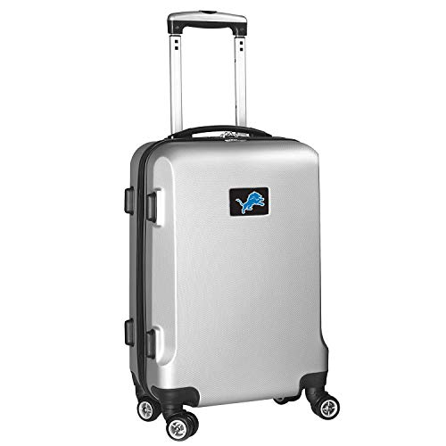 NFL Detroit Lions Carry-On Hardcase Luggage Spinner, Silver