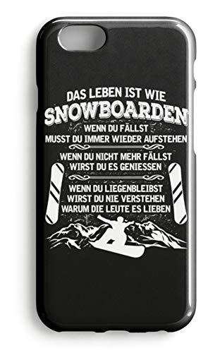 shirt-o-magic Handyhülle Snowboarder: Leben ist wie Snowboarden - Case -iPhone 7 Plus-Schwarz