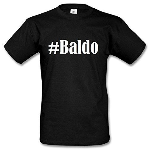 Camiseta #Baldo Hashtag para Mujer y Hombre en Blanco y Negro
