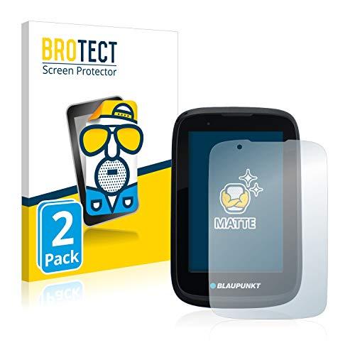 BROTECT 2X Entspiegelungs-Schutzfolie kompatibel mit Blaupunkt BikePilot 2 Plus Bildschirmschutz-Folie Matt, Anti-Reflex, Anti-Fingerprint