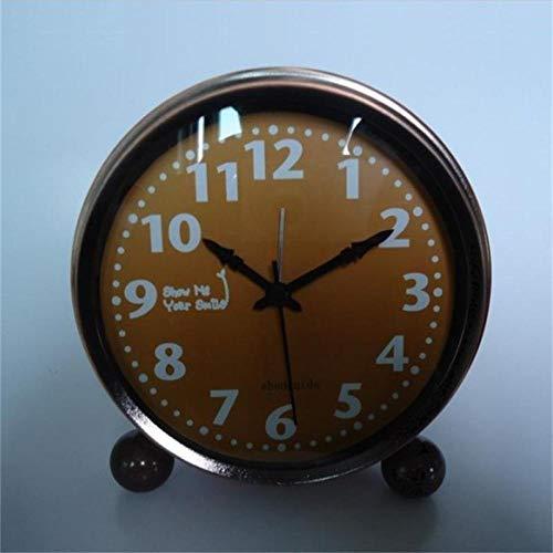 hlyhly Alarm Clock Clocks eenvoudige Big Ben van de ronde metalen stummen Retro hoofdmode