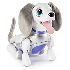 ROBOT DOG: Bring home a best friend that moves & sounds just like a real dog! With sophisticated voice recognition technology, Playful Pup responds to sound & touch with cute barks & adorable tricks! RESPONDS TO SOUND & TOUCH: Give your toy robot pet...