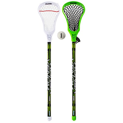 Franklin Sports Youth Lacrosse Stick and Ball - 2 Lacrosse Sticks and 1 Lacrosse Ball Included - 32 Inches