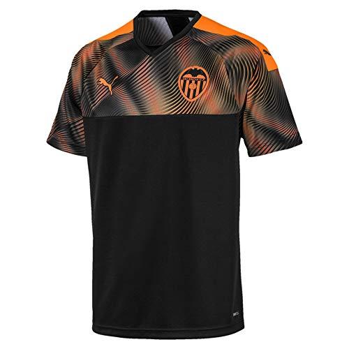 Puma Valencia CF Segunda Equipación 2019-2020, Camiseta, Puma Black-Vibrant Orange, Talla XS
