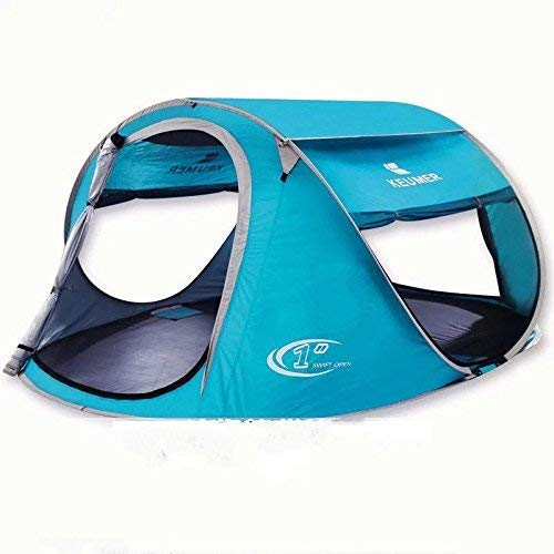 Outdoor Waterproof Tent, Beach Tents, Beach Tents Automatically Open Folding Outdoor Double Fishing Tent Rain Sun Shade UV Tent (Color : 2),For Beach Camping Hiking Fishing for Beach Camping Hiking Fi