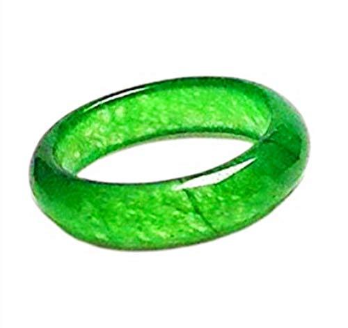 yigedan Damenring, natürlicher grüner Jadeit, einfacher Ring