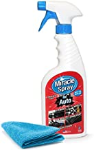 MiracleSpray for Auto - All Purpose Super Cleaner for Car Interior and Exterior Detailing - Easy to Use on Upholstery Fabric - Leather, Plastic, Rubber, Vinyl - Includes Microfiber Towel (16 oz Kit)