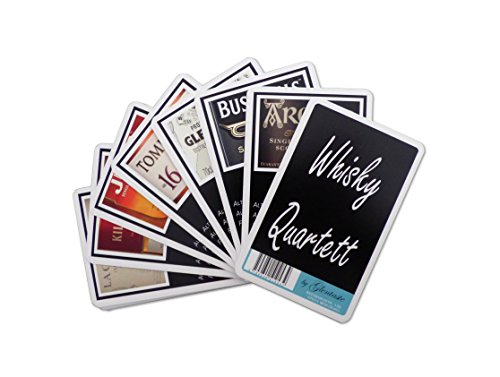 Glentaste Whisky Quartett - Kartenspiel mit Whiskysorten - Whiskygeschenk für Whiskey-Genießer - Ideal für Whiskytastings
