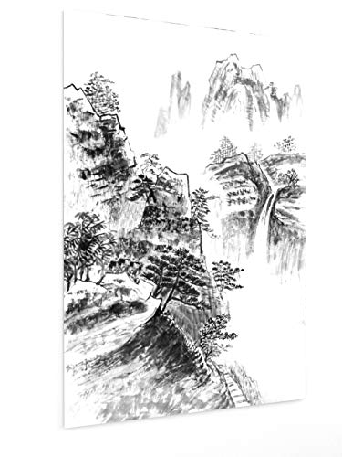 weewado Shao-Chun Wang - Cascada de China 60x90 cm Poster - Artists, Paintings, Photo, Image as Poster - Landscape