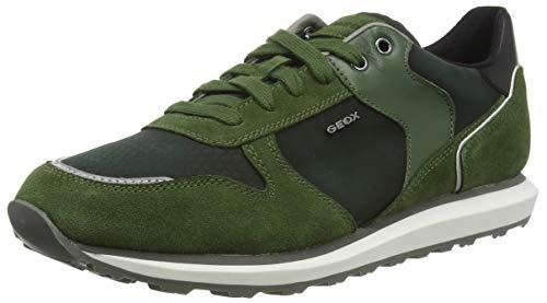 Geox U Volto A, Scarpe da Ginnastica Basse Uomo, Verde (Dk Green C3014), 44 EU