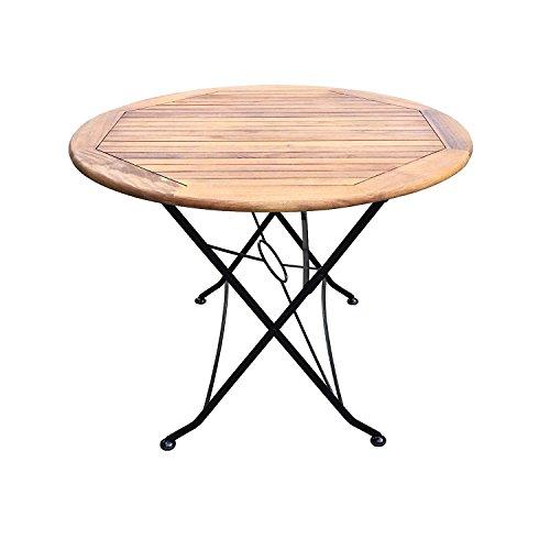 SEDEX Flex Bistrotisch/Gartentisch/Holztisch/Klapptisch rund Ø 100/75 cm Akazienholz