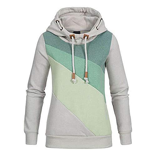 TOPKEAL Hoodie Pullover Damen Herbst Winter Kapuzenpullover Schnür Hut Farbverlauf Sweatshirt Winterpullover Lässige Jacke Mantel Tops Mode 2020