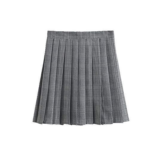 N\P Verano Plisado Falda Femenina de Cintura Alta Falda de Niña Falda de