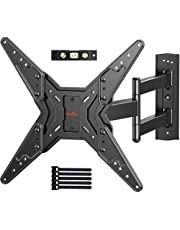 Full Motion TV Wall Mount for 23-55 Inch LED LCD Flat Curved TVs with Swivel Articulating Extends Tilt Arm fit Max VESA 400x400mm up to 88lbs by Perlegear