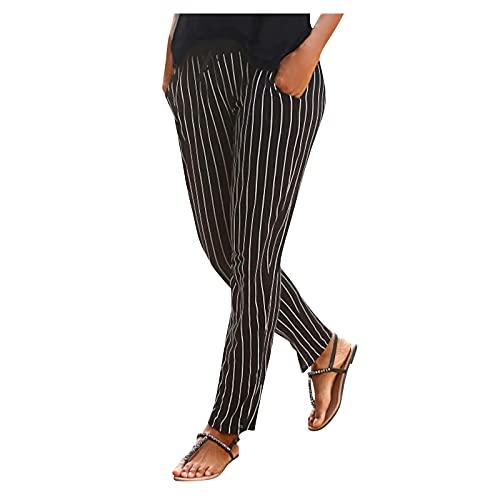 ZITIANY Women's Pants Elastic Waist Casual Comfy Joggers Pants with Pockets Boho Pants for Women Summer Pajama Pants