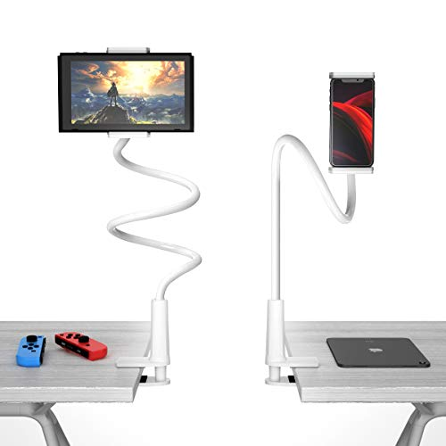 【peipai令和最新版】スマホ スタンド タブレット スタンド 両用 4.5?8.4インチ対応 寝ながら 360回転 オンライン飲み会 オンライン授業 ipad スタンド アームスタンド フレキシブルアーム付き 360回転 土台強化 安定性抜群 ベットスタンド(iphone/ipad/ipad mini/ipad Pro/Nintendo Switch/Huawei/Xperia/Galaxy/SONY/Kindle等多機種)