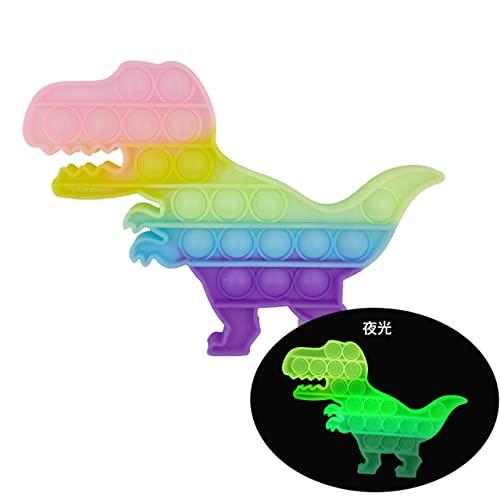 EU-NING Pubbubberry animale seduto in involucro giocattoli autismo sensoriale spremitura sollievo pressione mini giocattolo gioco semplice pit caos relax giocattoli-arcobaleno dinosauro