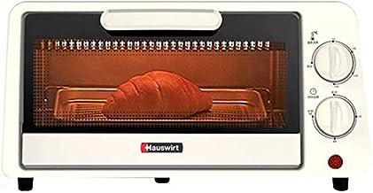 Tostador de horno doméstico pequeño 11 l multifunción mini horno de desayuno de acero inoxidable calentador tubo 60 minutos temporizador bandeja para hornear 800 W blanco