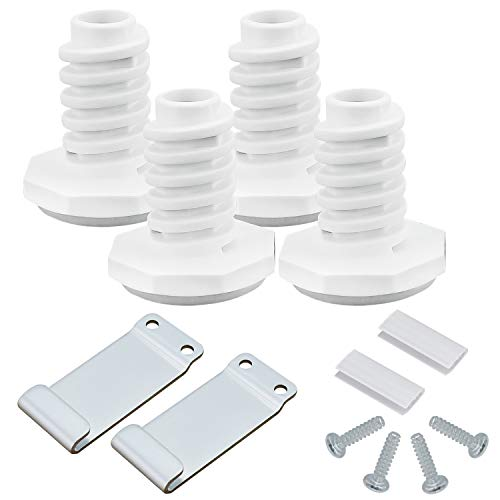 Techecook W10869845 Dryer Stacking Kit - Replacement for W10298318RP, W10761316, PS12069913, EAP12069913 Whirl-pool Standard and Long Vent Dryer & Washer