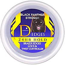 BLACK PANTHER STRONG - Edge and Braid Control POMADE 8 oz. Styling Gel. Great for Curly Hair. Firm Hold for Natural Hairstyles