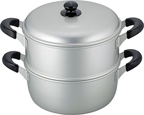 和平フレイズ 二段蒸し器 蒸し料理 舞楽 26cm 軽量タイプ アルマイト加工 ガス火専用 MR-7591