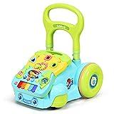COSTWAY Andador para Niños, Centro Actividad de Empujar y Tirar con Música y Luces, Altura Regulable y Panel Desmontable, Caminador para Aprender a Caminar más de 10 Meses (Verde)
