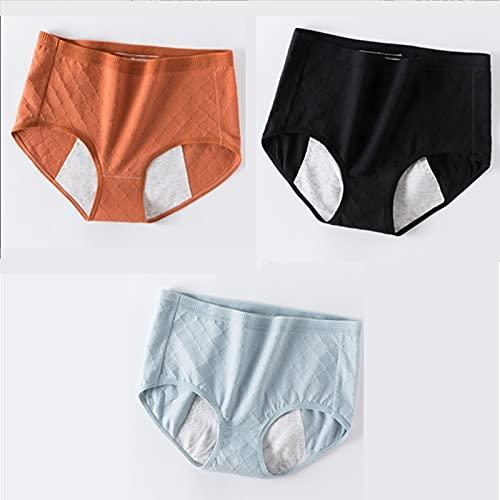 HHSB Pantalones De Época Menstruales De Las Mujeres:Pantalones Menstruales De Mujeres Pantalones A Prueba De Fugas De Algodón Menstrual Menstrual Y Posparto Juego De 3 Piezas 0930 (Size : M)