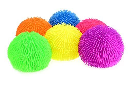 Toi-Toys Puffer 1 von 6 verschiedene 23 cm Spielbälle und Luftballons, 51006Z, Mehrfarbig