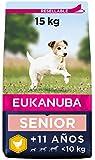 Eukanuba Comida seca para perros viejos de razas pequeñas con pollo 15 kg