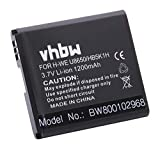 vhbw Akku Ersatz für Huawei HB5K1H für Handy Smartphone Handy (1200mAh, 3,7V, Li-Ion)