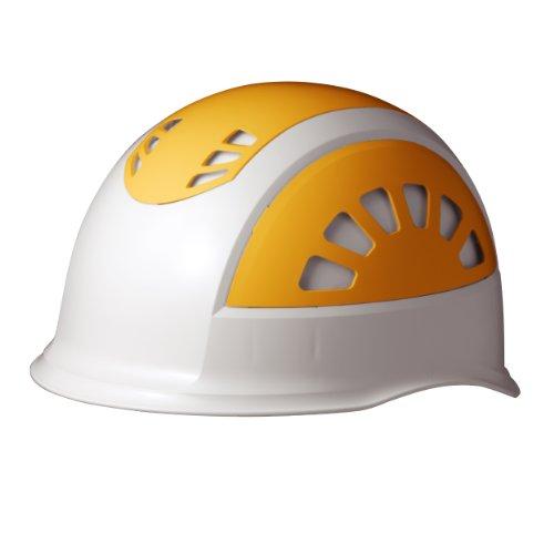 ミドリ安全 ヘルメット 作業用 ABS製 通気孔付 SC17BV RA KP付 ホワイト/イエロー
