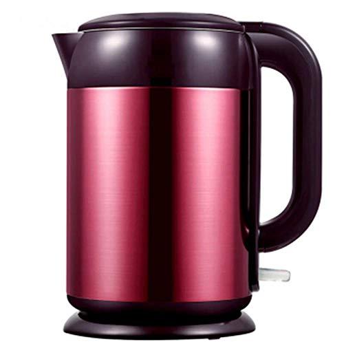WUAZ 1,7 l rostfreier Wasserkocher mit innerem Deckel, 1800 W, schnell kochender Heißwasserkocher mit Trockengehschutz, doppelwandige Isolierung