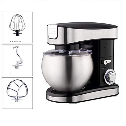 YUN HAI 7 Quarts Küche Küchenmaschine 1500W Tilt-Chefkoch-Maschine, 6 Geschwindigkeiten Rührbesen Mit Edelstahl-Schüssel, Knethaken, Schneebesen & Beater Splash-Schild, Schwarz