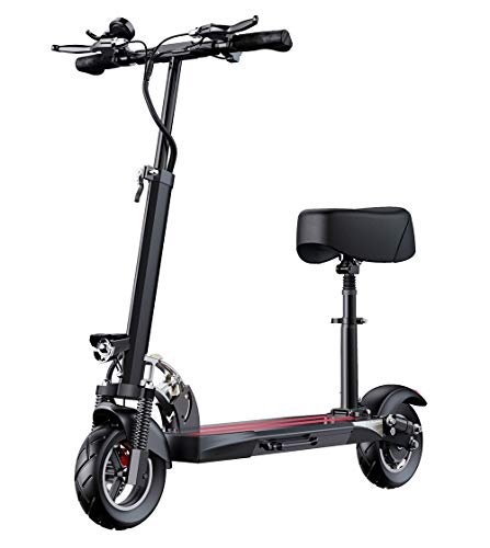 Portátil Patinete Electrico Adulto, Scooter eléctrico Plegable, Pantalla LCD 400W, neumáticos de...