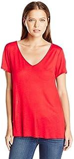 Star Vixen Women's Short Sleeve Deep V-Neck Tee
