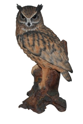 Real Life Large Long Eared Owl Garden Ornament (SizeB)