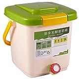 SNOWINSPRING 12L Kompost Beh?Lter Recyceln Composter BelüFteter Kompost Beh?Lter PP Organisch...