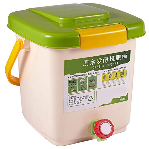 Luntus Contenedor de Compostaje de 12L Reciclar Compostador Contenedor de Compostaje Aireado PP Contenedor de Basura Casero OrgáNico Cubo Cocina JardíN Contenedores de Basura de Alimentos
