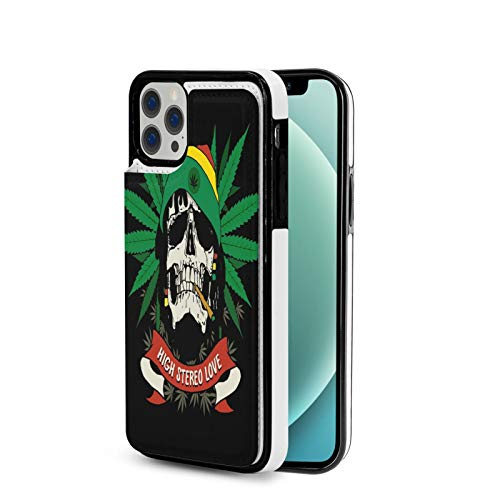 High Stereo Love Best Reggae Music Wallet Case for iPhone 12 & 12 Pro Credit Card Slot Holder Soft TPU PU Leather Magnetic Closure Protective Cover
