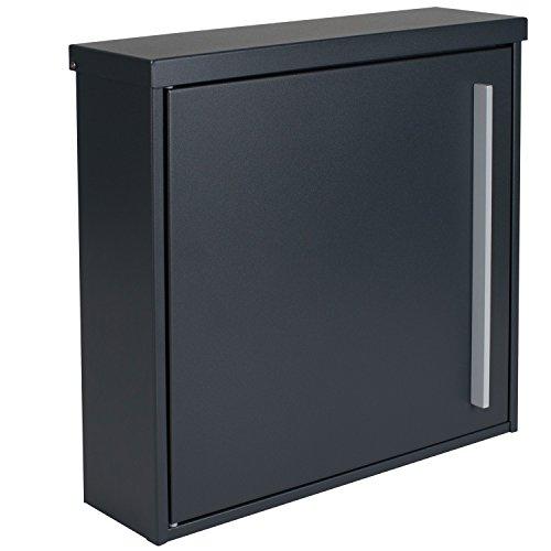Briefkasten MOCAVI Box 101 anthrazitgrau (RAL 7016)/grau 12 Liter Wandbriefkasten - 2
