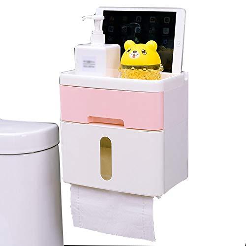 Preisvergleich Produktbild WEILIVE Tissue Box Cover Halter Papierhalter - Toilette Toilettenpapierbox - freie Stanze Papierrolle - Pumpen Toilettenpapierbox - Wasserdichte Toilettenpapierhalter Taschentuchhalter