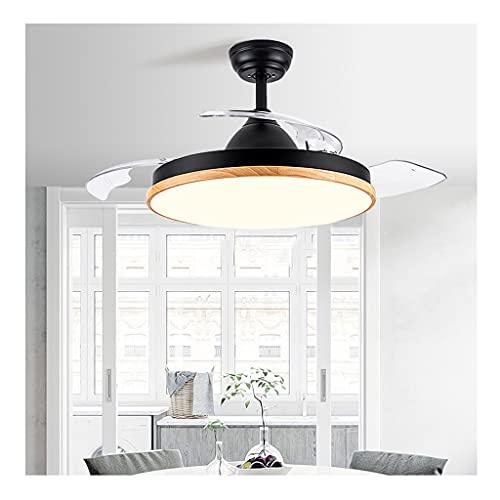 Luce a led Ventilatori da Soffitto con Lampada da 36/42 Pollici con Illuminazione a LED Lampadari Retrattili Lampadario con Telecomando DC Motore 6 Velocità 3 Colori Illuminazione con ventilatore a so